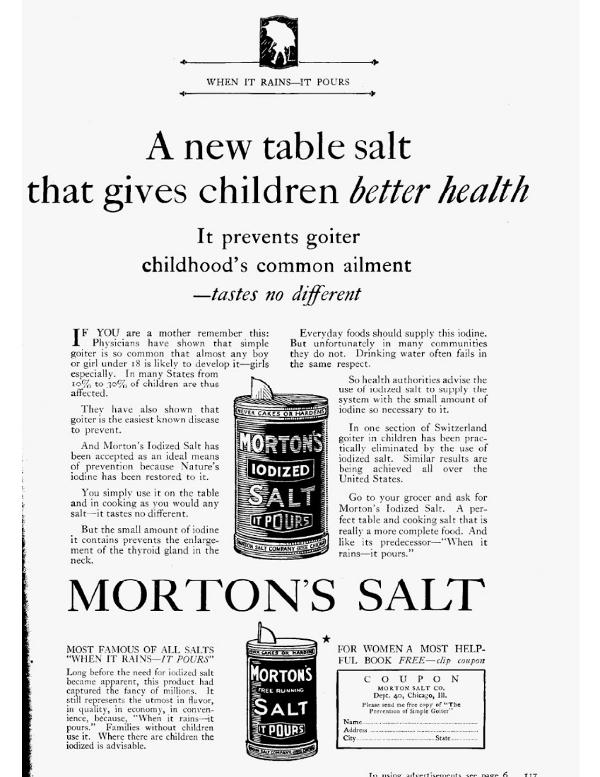 Morton Salt ad Good Housekeeping 1926
