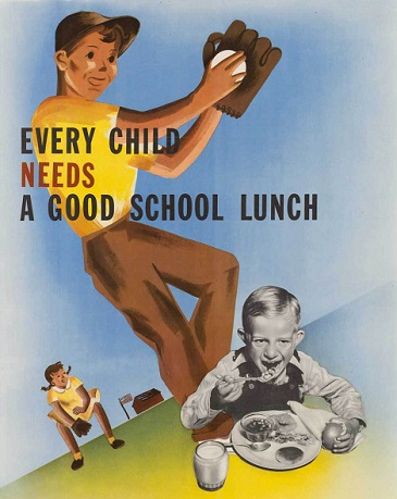 school lunch poster