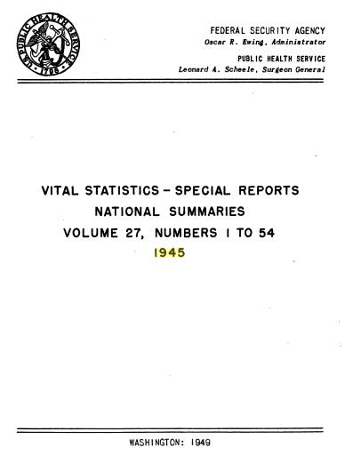 NH Vital Statistics 1945
