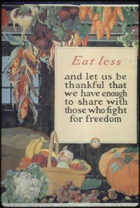East Less and Be Thankful poster WWI