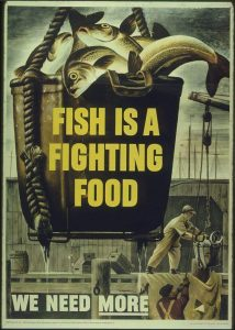 Fish is a Fighting Food poster 1943
