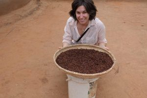 Julie Lesnik with termites for sale in South Africa